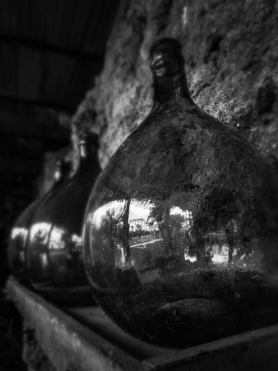 Bw_collection Bw Bwphotography Blackandwhite Black & White Blackandwhite B&w Streetphotography Bottle Reflection Shadow Shadows & Lights Stunning Sorrento Black Old Oldtown Water Drink Bottle Close-up Wine Bottle Focus On Shadow Wine Cellar Wine Cask