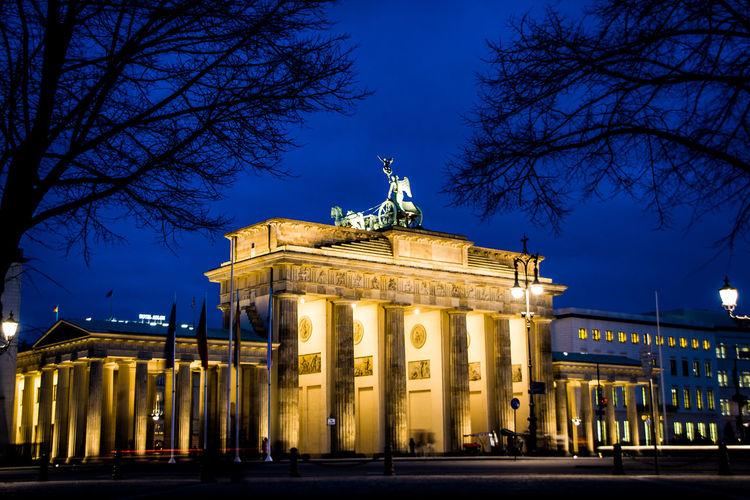 Illuminated Brandenburg Gate
