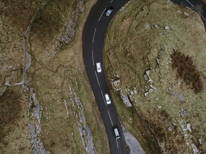 The mountain road from a drone Backgrounds Outdoors Day Traveling Travel Moody Journey Tranquil Scene Scenics Mountains Mountain Drone  Dronephotography Road Top Perspective Topview Top Down Car Cars Valley Cheddar Gorge