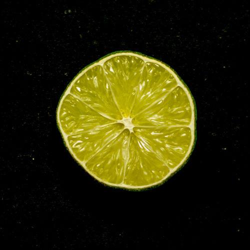 Directly above shot of lemon slice