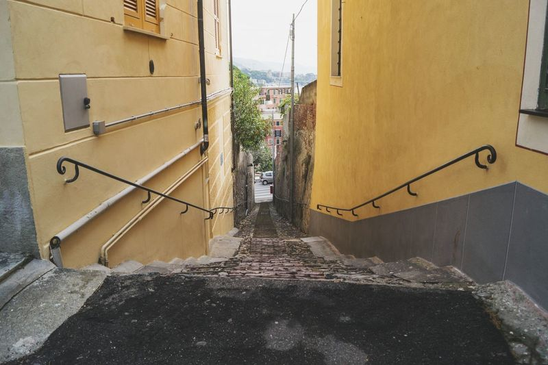 Genova Italy Italy Landscape Street Stairs_collection Walking Around The City  No People Perspective Photography Perspective SonyAlpha58