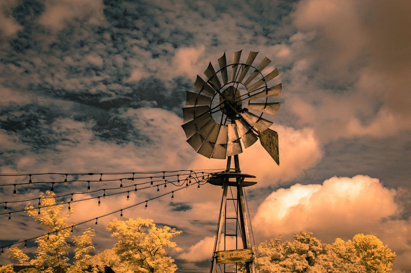 Old Fashioned Windmill At Chudleigh's Farm [IR+UV] Architecture Check This Out Exceptional Photographs EyeEm Best Shots Hanging Out Hello World Low Angle View Nature Relaxing Sunlight Taking Photos Tranquility Tree Trees Beauty In Nature Built Structure Cloud - Sky Day Enjoying Life First Eyeem Photo Landscape No People Outdoors Sky Skyporn