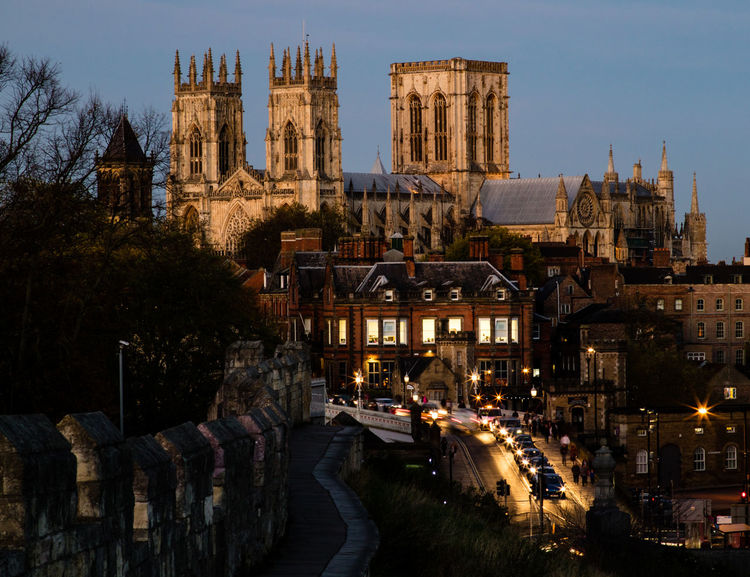 Cathedral York York Minster  Yorkshire Architecture Building Exterior Built Structure City Day England History Illuminated Minster No People Outdoors Place Of Worship Religion Sky Spirituality Travel Destinations Uk