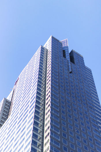 Architecture Blue Building Building Exterior Built Structure Business Busy California City City Life Day Development Los Angeles, California Low Angle View Modern Office Building Outdoors Sky Skyscraper the architect