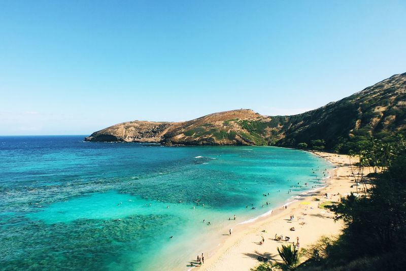 Hanuama Bay Hanauma Bay Hawaii Snorkeling Beach Tropical Hawaii Life Hawaiian Hawaiishots Sea Beachphotography Beach Photography Beach Life Beachlife Hawaiilife