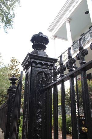 At the gate... Statue Sculpture Iron Gate Historic New Orleans Low Angle View Art And Craft History No People Day Outdoors Built Structure Architecture Sky
