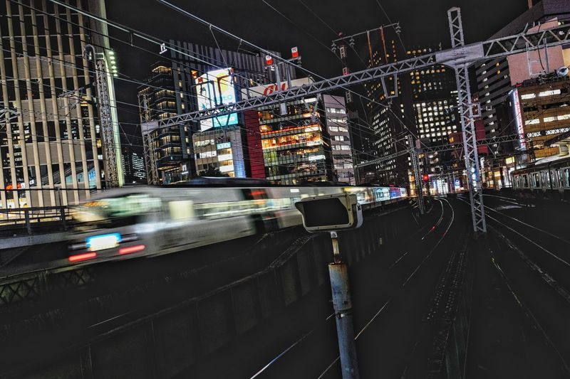 Go to home. Train 185 Tokyo Tokyo,Japan Transportation Architecture Built Structure Mode Of Transportation Building Exterior Road Land Vehicle City Night Illuminated No People