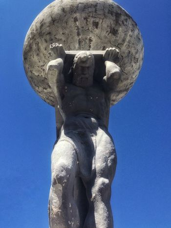 Statue Monument Quito IPhoneography Iphoneonly Taking Photos Ecuador Quito Ecuador Mythology Streetphotography Monument of Atlas holding the world on his shoulders.