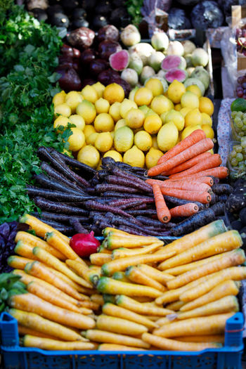Carrot Colors Market Freshness Food And Drink Food Vegetable Healthy Eating Variation Choice Abundance Large Group Of Objects Wellbeing Root Vegetable Day Multi Colored No People Fruit Potato Market Stall Retail  Common Beet Ripe