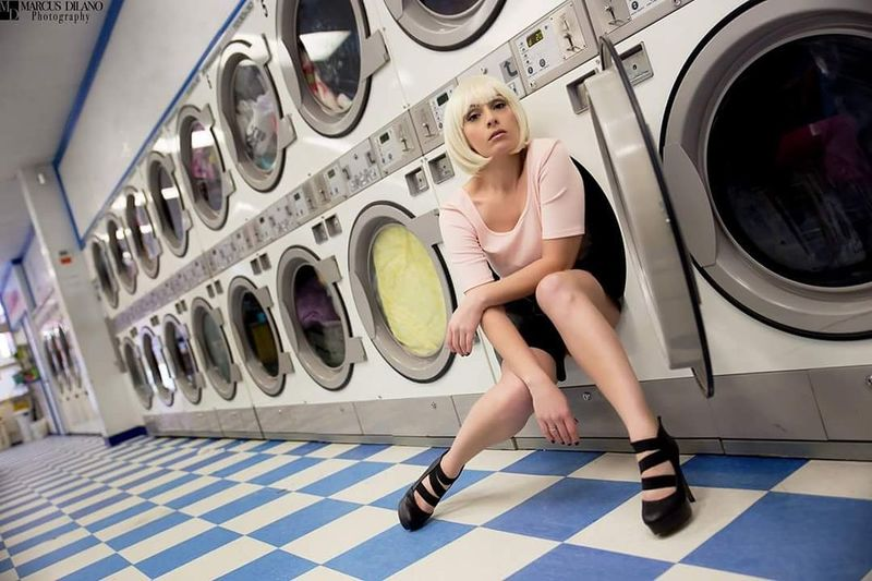 Waiting Around Blondes Do It Better♥ Photoshoot Blondes Laundromat Laundry Day Model Modeling Pretty Girl Woman Fashion&love&beauty Eye4photography  Eyem Best Shots Fashion Photography Photoshoot Time Maryland People Photography Color Portrait