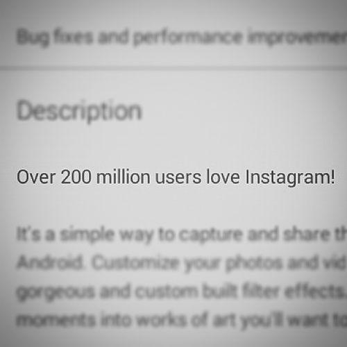200 million people use. Instgrarm