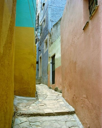 Architecture Built Structure Door Ancient House History Building Exterior Window No People Leaving Old Ruin Day Outdoors Sky Ancient Civilization Rural Scene Film Photography Mexico Alleyscapes AlleyShots Alleyexploration Alley Photography Alley Cat Alley Scene Landscape Paint The Town Yellow