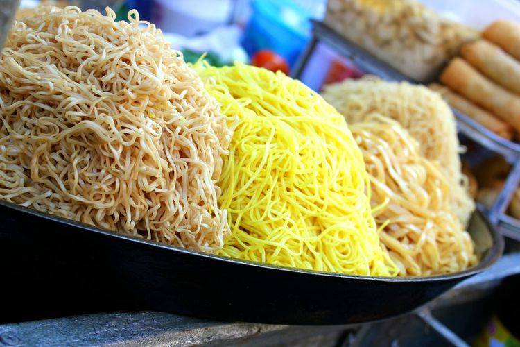 Close-Up Of Noodles In Plate For Sale