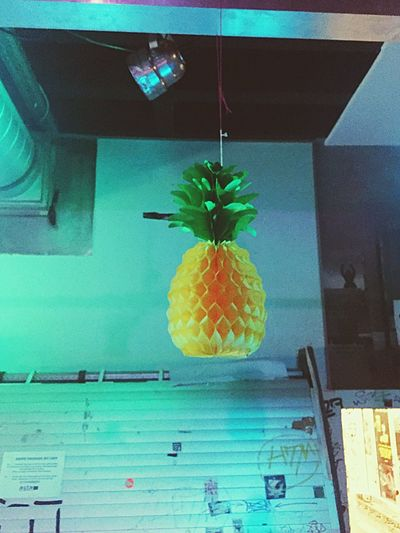 Places I've Been Today Bisex Lesbian Inter Trans Gay Lgbtiq Queer University Campus Yellow Bad Taste Party Pinapple Hanging Indoors  No People Home Interior Fruit Multi Colored Architecture