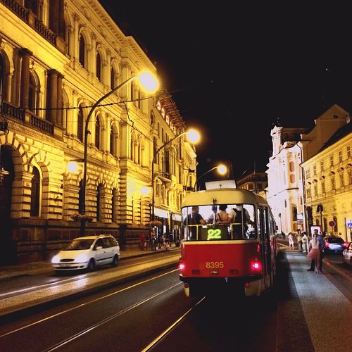 Urban Tram Travel Czech Republic Nightphotography Night Lights Night Lights First Eyeem Photo