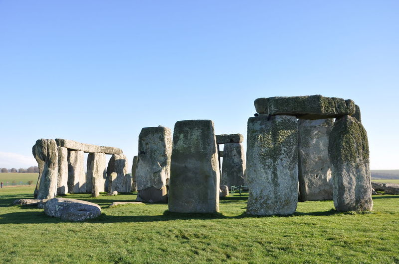 Stonehenge against clear blue sky