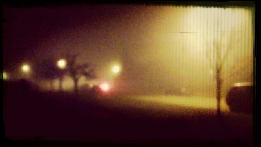 foggy blurred night