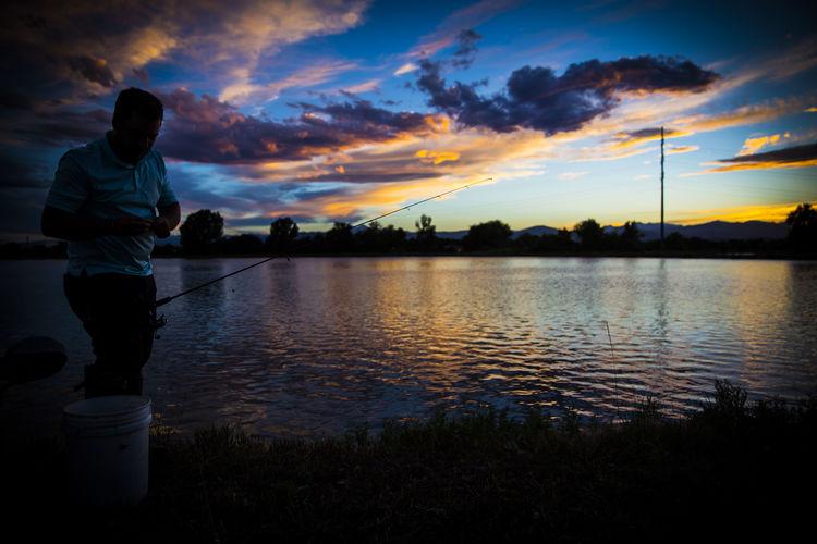 #beauty #CrattsCreations #fishing #Nature  #passion #Ribo #silhouette #sunset #sunset #sun #clouds #skylovers #sky #nature #beautifulinnature #naturalbeauty #photography #landscape