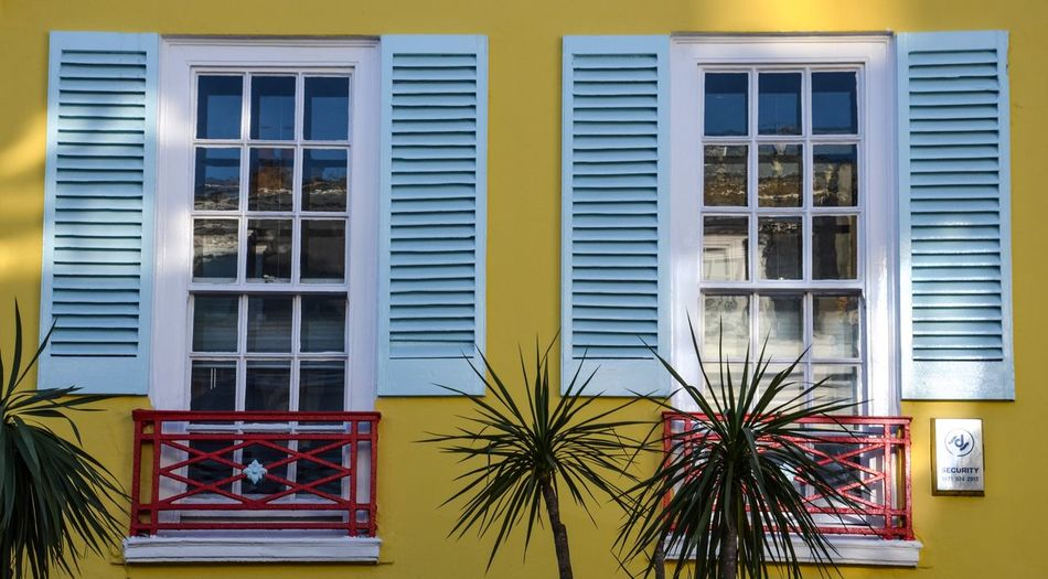 Summer Feelings Building Exterior Yellow Architecture Window Built Structure Outdoors No People Day Summer Feelings  Blue Shutters Chelsea, London EyeEm LOST IN London Postcode Postcards