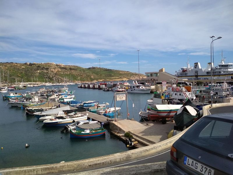 Gozo Malta Nautical Vessel Pier Beach Sea Commercial Dock Water