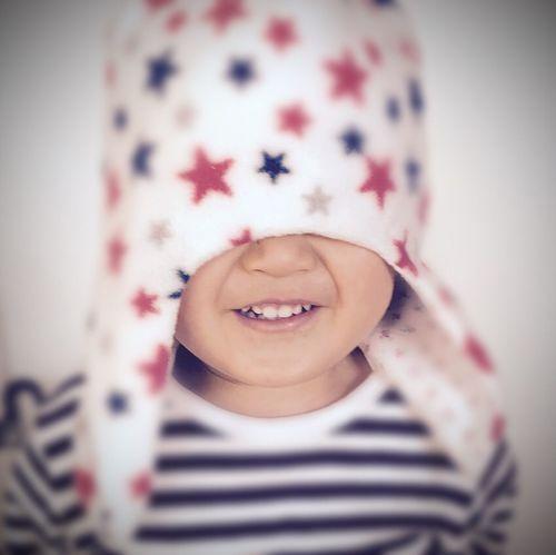 ボーダー スター Star 星 かくれんぼ 笑顔 Cap 帽子 キッズ Kids 子供