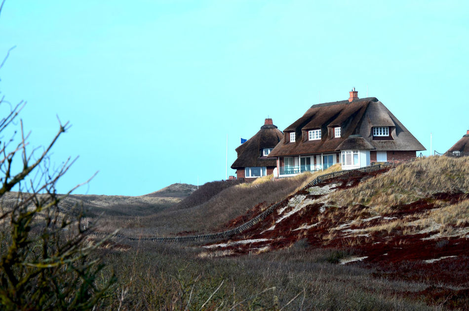 Dunes Reetdach Blue Sky House Blue Clear Sky Abandoned Sky Building Exterior Grass Built Structure Scenics Idyllic Calm