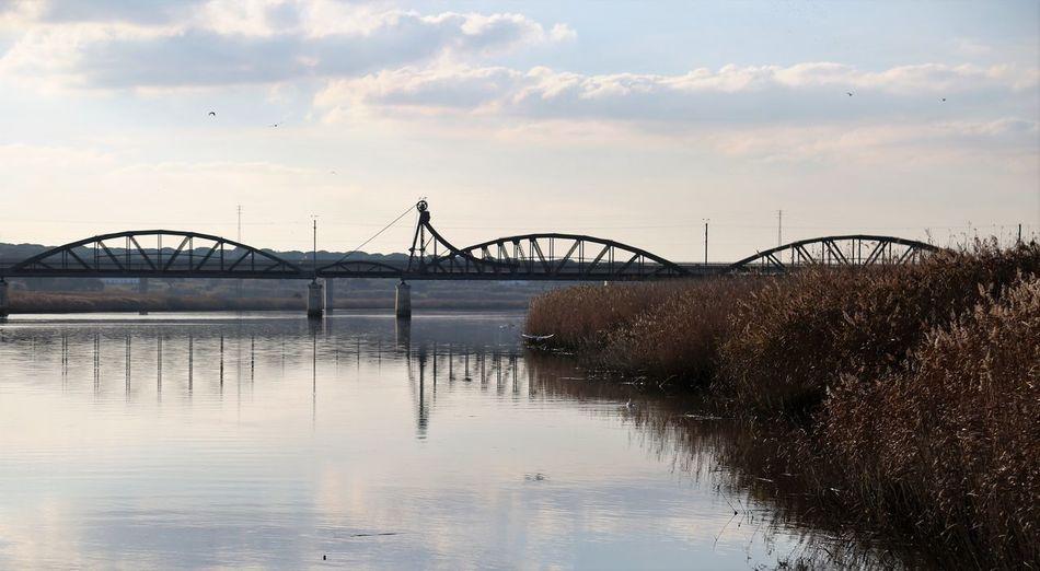 The Bridge Sky Water Architecture Connection Cloud - Sky Built Structure Bridge