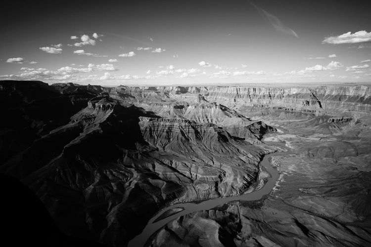 Aerial View Aerial Photography Aerial Shot Aerial Arizona Grand Canyon Helicopter United States America Black And White Blackandwhite Geology Landscape Nature No People Outdoors Rock Sky First Eyeem Photo EyeEmNewHere Holiday Moments