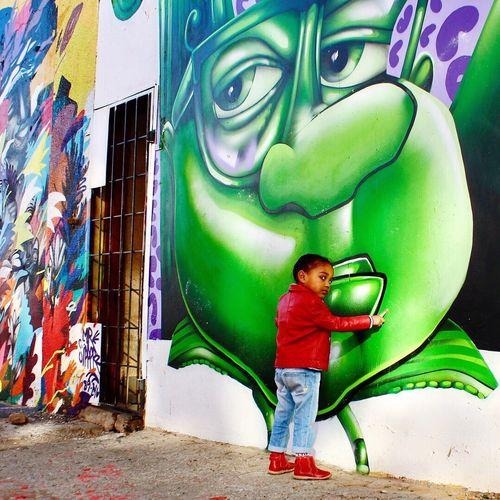 Graffiti Full Length Multi Colored Casual Clothing Childhood Lifestyles Beautiful Girl Favorite Maboneng Precinct EyeEm Selects