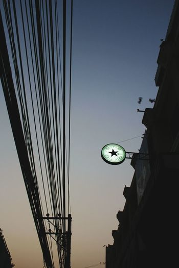 Lampang, Thailand, electrical wire, solstice sunset Astronomy Sky Low Angle View Converseallstar