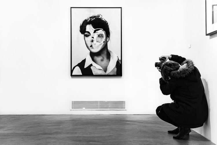 Abstract Black And White Consept Deformed Exhibition Face Istanbul Light And Shadow Nostomania Portrait Taking Photos Turkey Wall Woman Blackandwhite