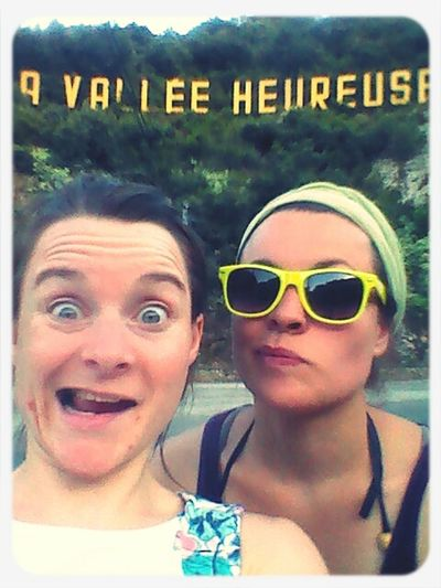 with my sister last week in La vallée heureuse. Holidays Sorede Sister's