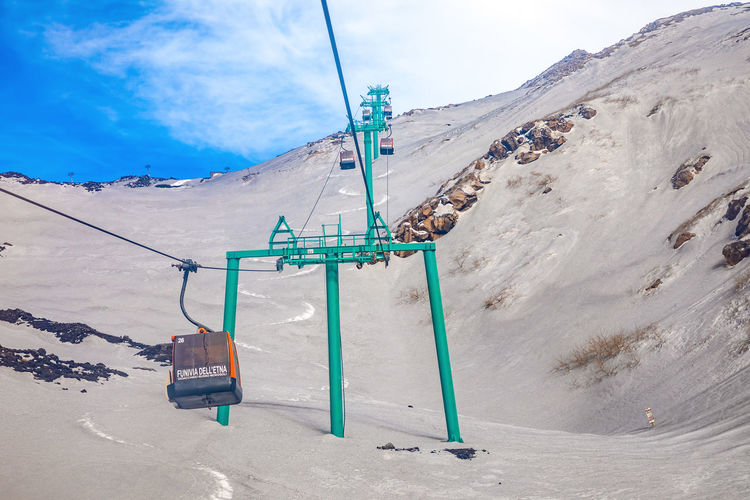 Etna Volcano Sicilia Italy Sicily Winter Snow Mountain Cold Temperature Cloud - Sky Sky Day Nature Land Scenics - Nature No People Beauty In Nature Tranquil Scene Non-urban Scene Tranquility Landscape Ski Lift Environment Covering Outdoors Snowcapped Mountain