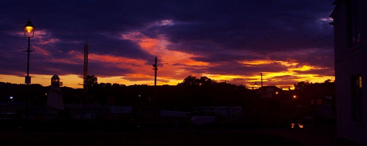 Stourport sunset Cloud - Sky Lamplight Night No People Silhouette Sky Stourport On Severn Sunset