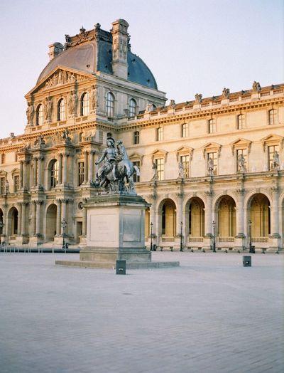 Musée du Louvre Fuji400h Paris Film Photography Building Exterior Architecture Built Structure Building The Past History Day No People Travel Destinations Façade Tourism Travel Outdoors