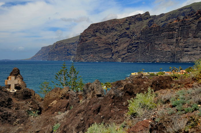 Los Gigantes Beach Cliff Coastline Cultures Day Landscape Los Gigantes Mountain No People Outdoors Scenics Sea Sky Tranquility Travel Travel Destinations