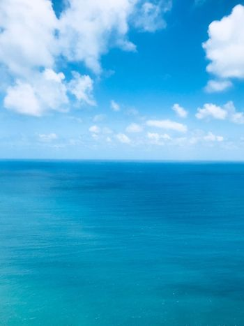 Caribbean St Lucia Blue Sky Blue Blue Sea Horizon Over Water Tranquil Scene Beauty In Nature Tranquility Nature Day No People Outdoors Seascape Turquoise Colored Waterfront