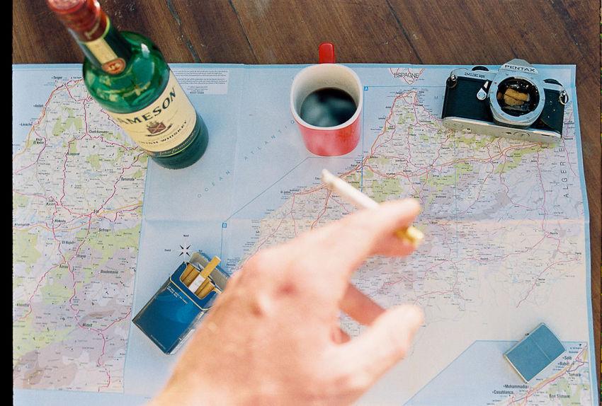 TwentySomething 35mm 35mm Film Lifestyle Travel Roadtrip Jameson Map Youth Summer
