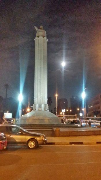 Cairo Streets Cairo University City Every Blue Moo Night Outdoors Sky Statue Travel Destinations