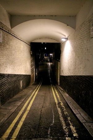 London Tunnel Darkness And Light Night Photography Nightshot Empty Places Cityscapes Taking Photos Urban Landscape