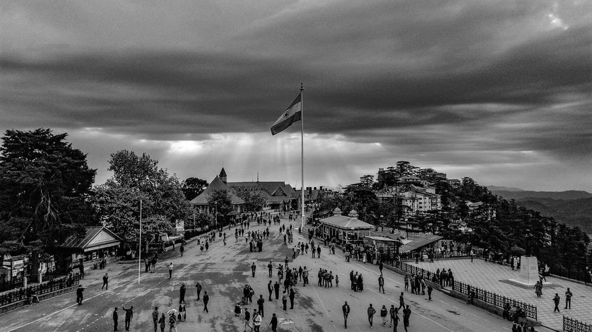 Monochrome mall road shimla Shimla Shivalik Himalayas Indianhimalayas Monochrome Blackandwhite Ankitdogra
