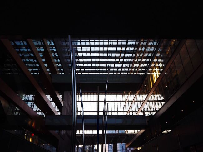 Indoors  Architecture Low Angle View Built Structure Illuminated No People Transportation Day