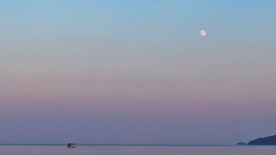 Greece Sea Ocean No_ground Sky Daylight Moon Boat Amazing Must View