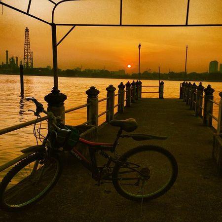 จักรยาน ตอนเช้า บางน้ำผึ้ง Sunrise morning bicycle