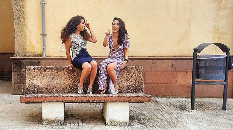 Friends n family 😊😊 Beautiful Friends Persian Girls Italy Sardinia Models Photography Photoshoot Dress Dresses Chic Style Fashionista Fashion Natural Bench Smiles Laugh Street Elegant Luxury Lifestyle Instapic Instagood instadaily travel like4like women