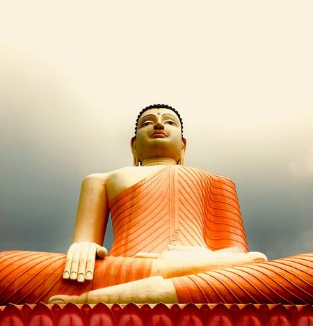 Find serenity wherever you go. EyeEmNewHere Religion Spirituality Statue Low Angle View Sculpture Sitting EyeEmNewHere