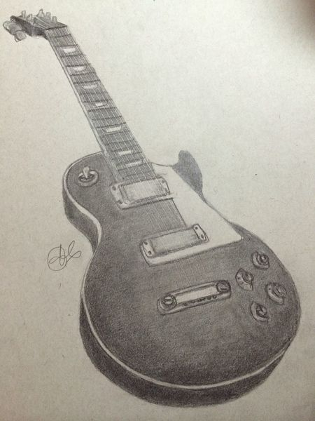 Guitar Myartwork Art #illustration #drawing #draw #tagsforlikes #picture #photography #artist #sketch #sketchbook #paper #pen #pencil #artsy #in Drawing