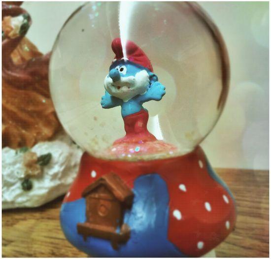 Curio Glass Smurfs Papa Smurf