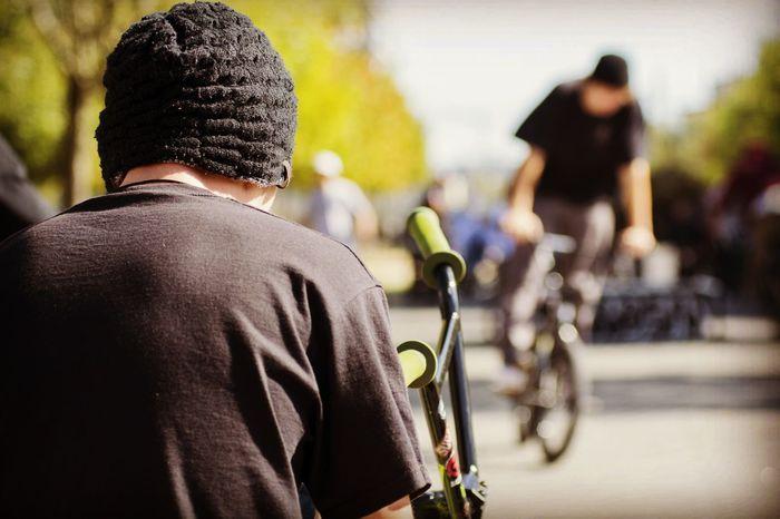 Lifestyles Outdoors Sport Men City Been There. Eyemphotography EyEmNewHere TheWeekOnEyeEM Bmx  Bmxlife Bmx Cycling Jump Jumpshots