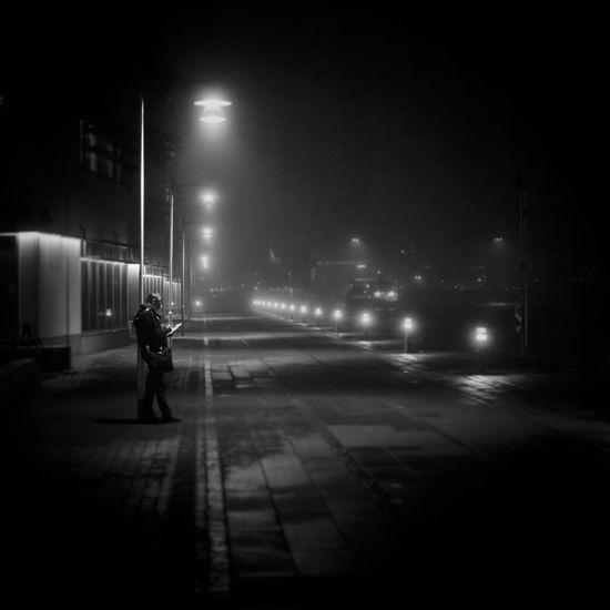 Foggy Weather Goteborg Gøteborg Night Lights Nightphotography Blackandwhite Bw Fog Foggy Gothenburg Hisingen Leica LeicaM9 Leicacamera Lindholmen Lindholmens Tekniska Gymnasium Night Nightshot Noir Summicron
